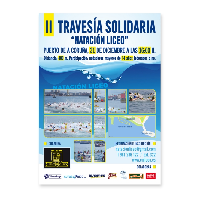 II Travesía Solidaria Natación Liceo